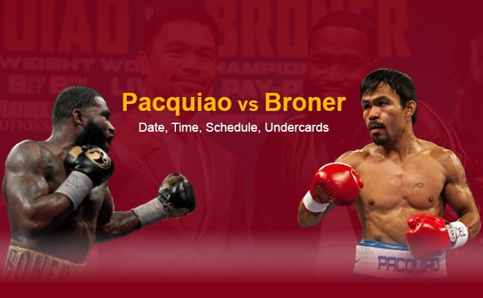 Pacquiao vs Broner Date, Time